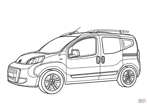 Fiat Panda Kleurplaat by Fiat P08 Coloring Page Free Printable Coloring Pages