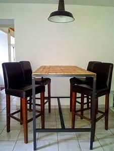 Table Haute Design : 1000 id es sur le th me table haute bar sur pinterest table haute plan de travail cuisine et ~ Teatrodelosmanantiales.com Idées de Décoration