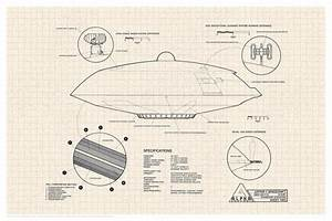 Lost In Space Jupiter 2 Spacecraft Diagram Cool Wall Decor Art Print Poster 24x36