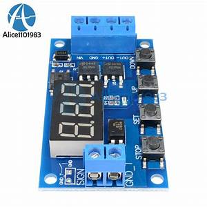 Trigger Cycle Timer Delay Switch 12 24v Circuit Board Mos