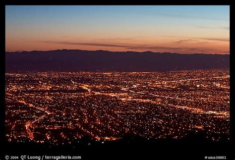 picture photo lights of silicon valley at dusk san jose
