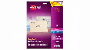 averyr easy peelr clear address labels 2quot x 4quot 100 labels With avery 2x4 clear labels