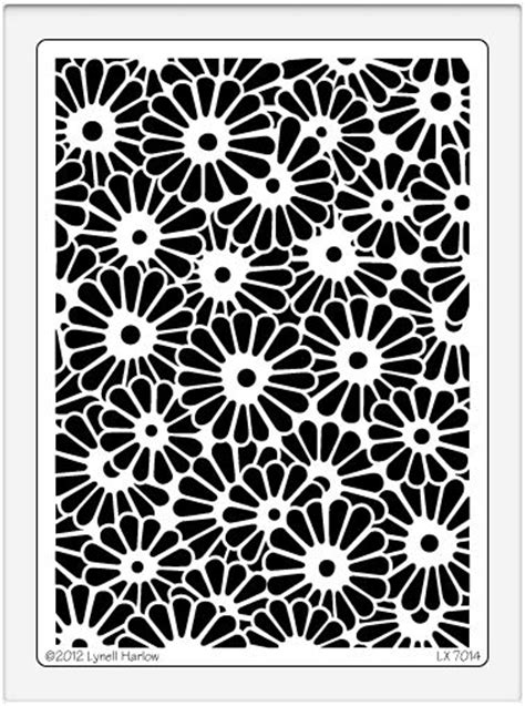dreamweaver extra large metal stencil daisy background