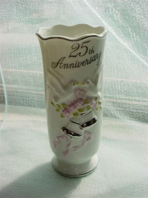 vintage flower vase  wedding anniversary gift idea