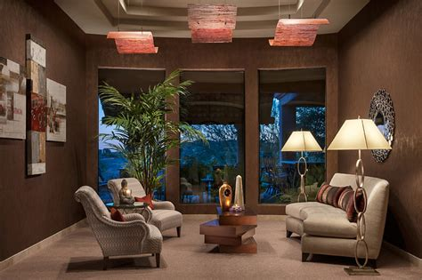 north scottsdale living room design dramatic ceilings