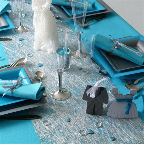 d 233 coration de table gris et turquoise pictures to pin on