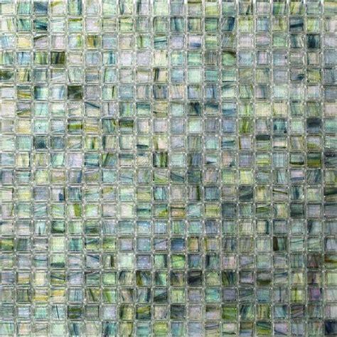 and glass mosaic tile splashback tile breeze green tea 12 3 4 in x 12 3 4 in x 6 mm glass mosaic tile breezegreentea