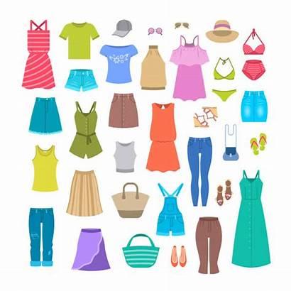 Summer Clothes Accessories Casual Illustration Seasonal Bag