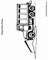 Plow Coloring Snow Truck Pages Drawing Printable Printactivities Clipartmag sketch template