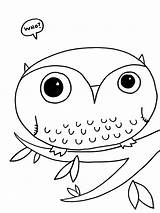 Owl Coloring Printable Owls sketch template