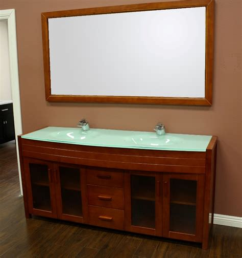 Waterfall Double Sink Bathroom Vanity Set