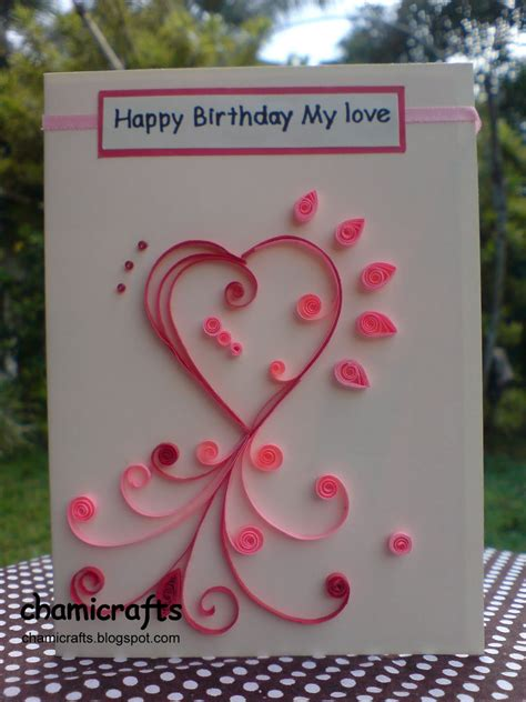 chami crafts handmade greeting cards quilled heart