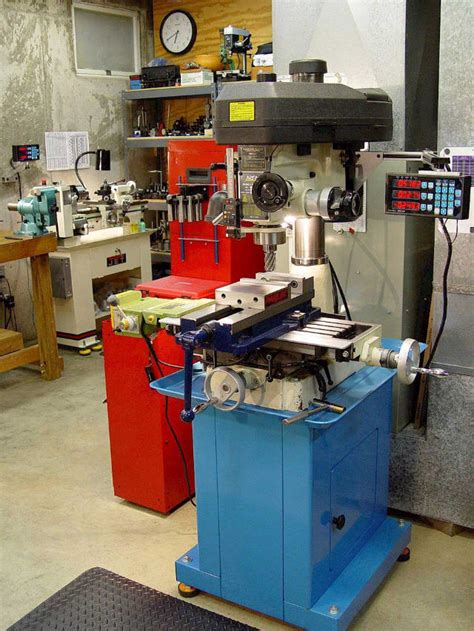 machine milling mill dro rf drill rong fu tools micro lathe metal annotated workshop cnc garage equipment different machining machines