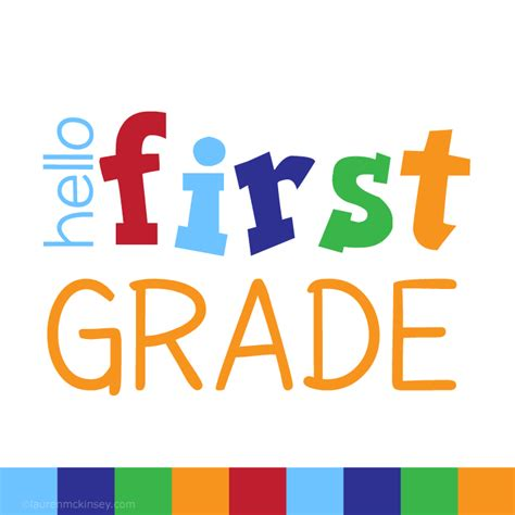 Signs{hello First Grade For Boys}  Lauren Mckinsey Printables