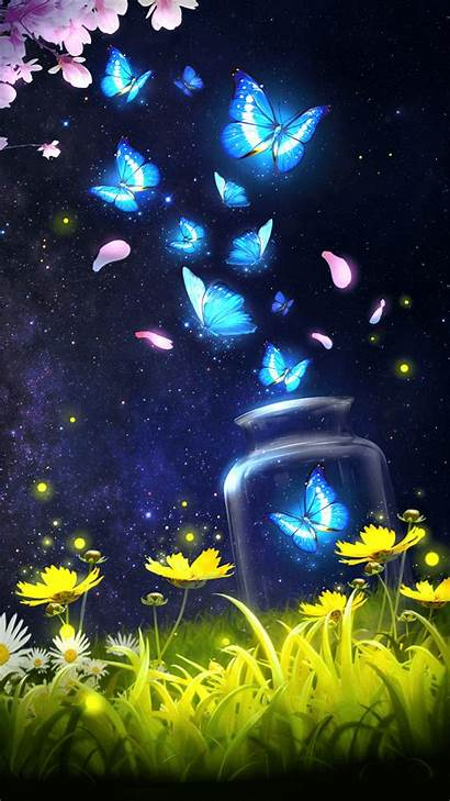 Android Animated Wallpapers Background Butterfly Sky Shiny