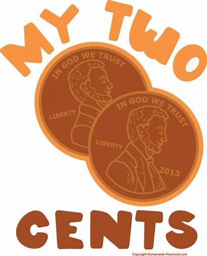 Cents Clipart Penny Patriotic Clip Pennies Transparent