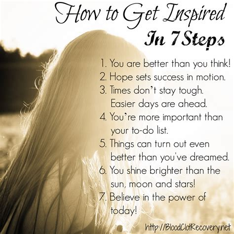 inspired   steps blood clot recovery network