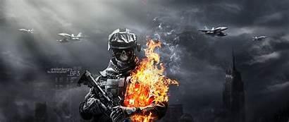 1080 Wallpapers Gaming 2560 Battlefield Gun Skull