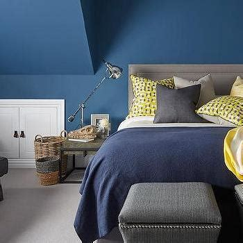 Blue Yellow And Gray Bedroom Design by Interior Design Inspiration Photos By Metz Design