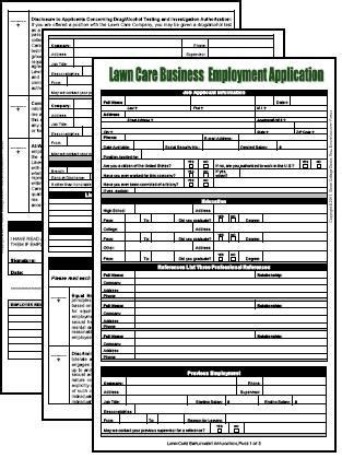 blank employment application form   note