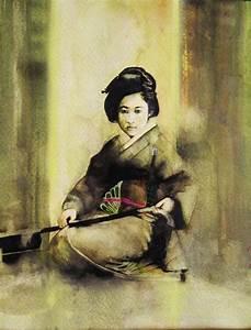 traditional geisha by mortisamimiko on DeviantArt