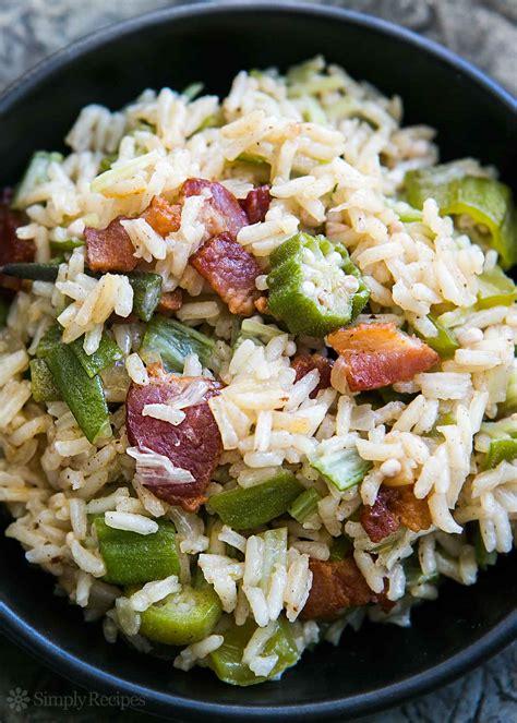 okra recipe okra pilaf okra perloo simplyrecipes com