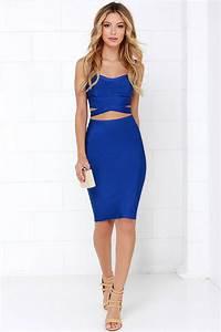 Blue Dress Outfit - Oasis amor Fashion