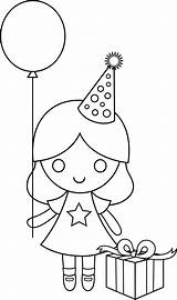 Coloring Birthday Happy Pages Drawing Drawings Clip Line Clipart Sweetclipart Birthdays Cliparts Transparent Colorable Characters sketch template