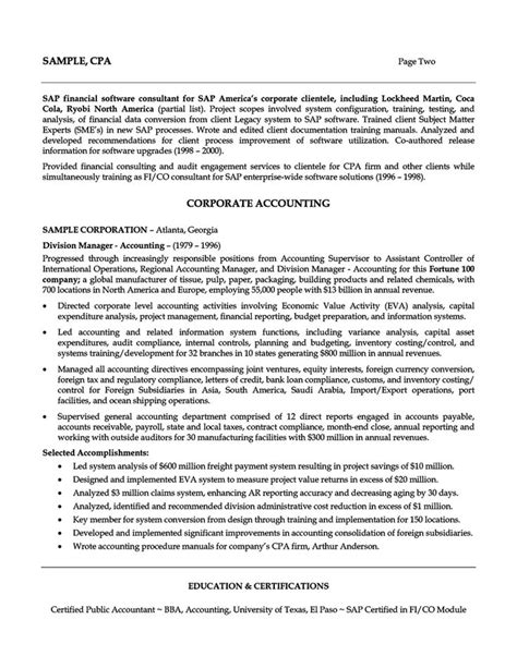 Ea Resume by Accounting Manager Resume Financial Analyst Tax