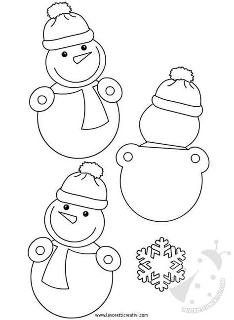 addobbi invernali scuola pupazzi  neve lavoretti creativi