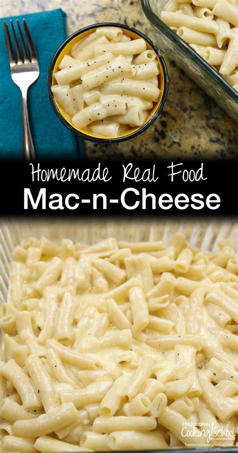 It's delicious, creamy, cheesy, and has more protein than traditional mac & cheese since there isn't much protein in cheese. Homemade, Real Food Macaroni And Cheese Recipe