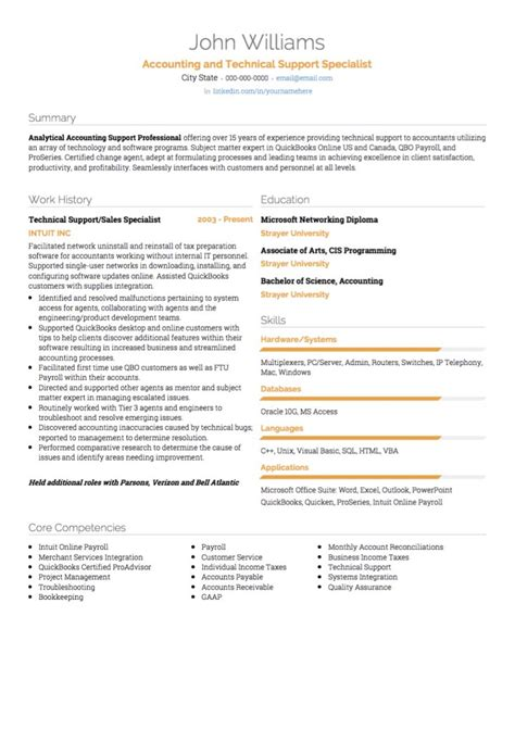 Technical Support Resume Format For Experienced by It Cv Exles And Template