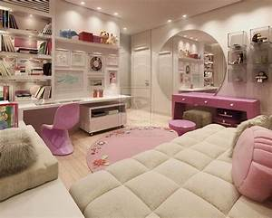 stylish pink bedroom decor ideas for girl With teenage girl room stylish design image