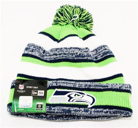 bobble hat  era seattle seahawks green sport knit