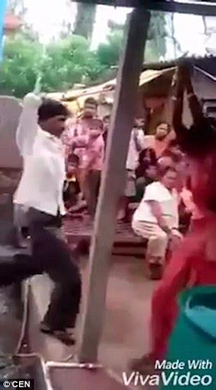 Indian Husband Shown Tying Up His Cheating Wife And Her