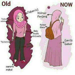 gambar dp bbm hijab muslimah syari kartun lucu ponsel