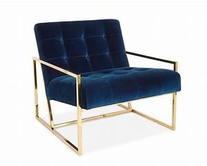 Chaise Bleu Marine : fauteuil en velours bleu marine et laiton poli fauteuil de luxe pinterest fauteuil ~ Teatrodelosmanantiales.com Idées de Décoration