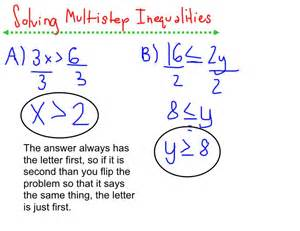 Solving Inequalities Step 3
