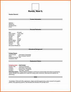 Format For Job Application Pdf Basic Appication Letter
