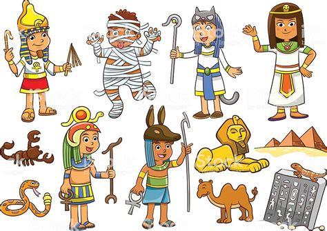 Illustration Of Egypt Child Cartoon Stock Vector Art