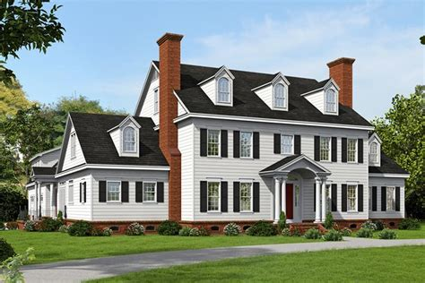 Colonial House Plans by Colonial Plan 6 858 Square 6 Bedrooms 4 5