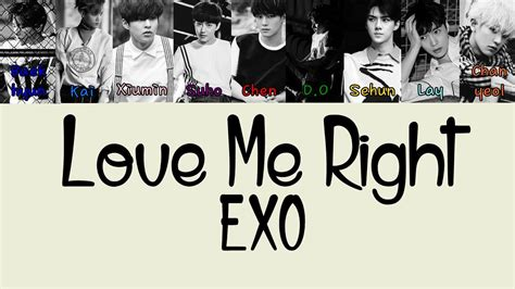 The Right For Me by Exo Me Right Korean Version Color Coded Lyrics