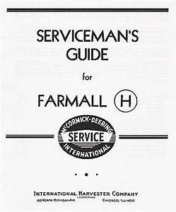 Farmall H And Hv Serviceman U0026 39 S Guide Service Manual Chs