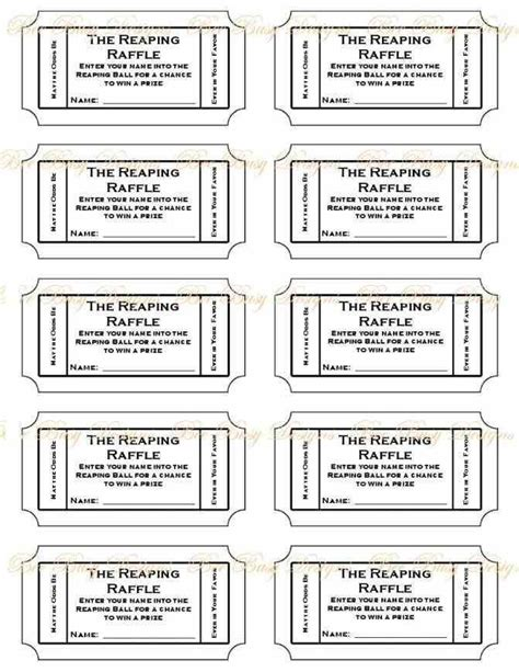 ticket templates online free free printable raffle ticket template printable numbered