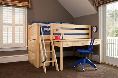 low loft bed with desk and storage back to school ready with study loft beds with desk
