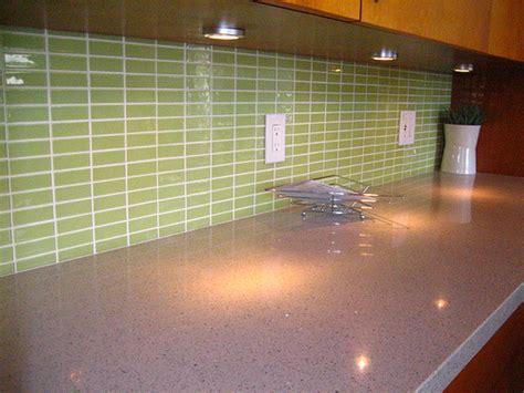 kitchen backsplash green green glass tiles for kitchen backsplashes to your home