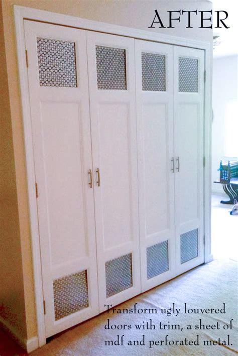 diy bi fold closet door makeovers bright green door