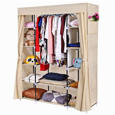 Homdox Portable Closet Storage Organizer Clothes Wardrobe