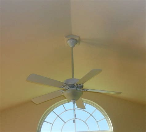 ceiling fan for angled ceiling installing ceiling fans for vaulted ceilings modern