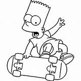 Bart Coloring Simpsons Pages Skateboard Simpson Cartoon Drawings Play Drawing Sheets Characters Adult Animage Homer Lines Easy Character Doodle Sun sketch template
